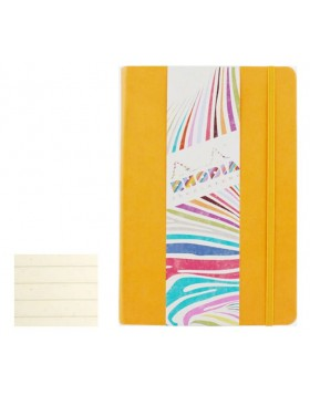 RHODIA Boutique Rhodiarama Hard Cover Notebook Daffodil Yellow A5 (Lined)