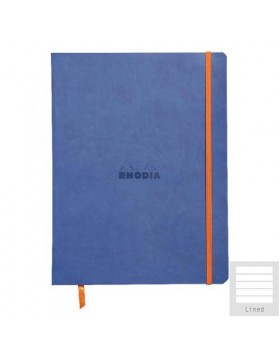 RHODIA Boutique Rhodiarama Hard Cover Notebook Sapphire Blue A5 (Lined)