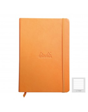RHODIA Boutique Rhodiarama Hard Cover Notebook Orange A5 (Lined)