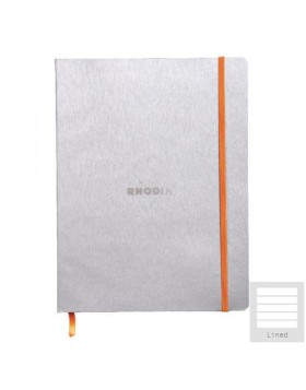 RHODIA Boutique Rhodiarama Hard Cover Notebook Silver A5 (Lined)