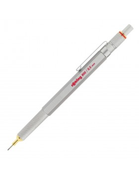 Rotring 800 Full Metal Silver Retractable Mechanical Pencil 0.5mm