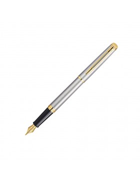 Waterman Hemisphere 10 Stainless Steel Gold Trim Fountain Pen