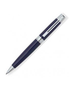 Sheaffer 300 Gloss Blue Chrome Plate trim Ballpoint 9328 Ballpoint