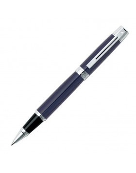 Sheaffer 300 Gloss Blue Chrome Plate Trim 9328 Rollerball