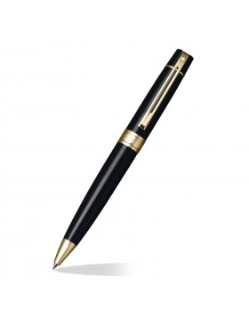 Sheaffer 300 Glossy Black, Gold Tone Trim 9325 Ballpoint
