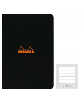 RHODIA Side-Stapled Black A5 Notebook (Lined)