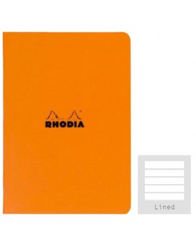 RHODIA Side-Stapled Orange A5 Notebook (Lined)