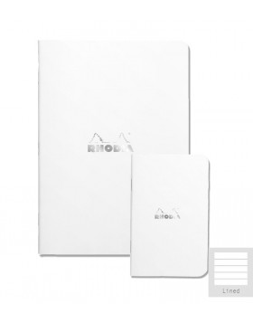 RHODIA Side-Stapled Ice White A5 Notebook (Lined)