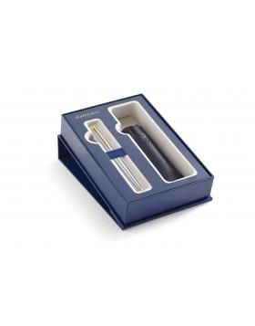 Waterman Hemisphere 10 Stainless Steel GT Rollerball Pen with Pen Pouch Set