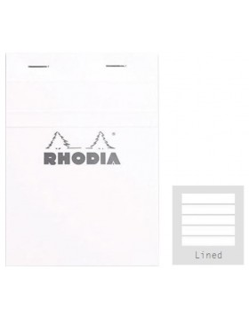 RHODIA Basics White Notepad A6 (Lined)