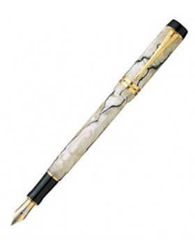 Parker Duofold International Pearl and Black GT Fountain Pen