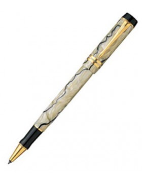 Parker Duofold International Pearl and Black GT Rollerball