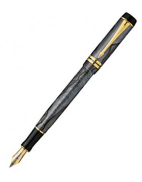 Parker Duofold International Pearl and Grey GT Fountain Pen