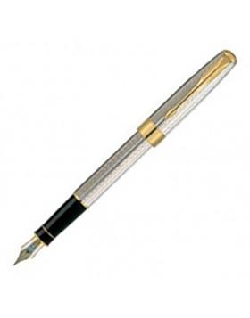 Parker Sonnet Ii Black Lacquer Chrome Trim Fountain Pen