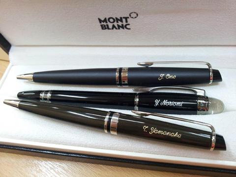 Montblanc pen engraving and waterman pen engraving